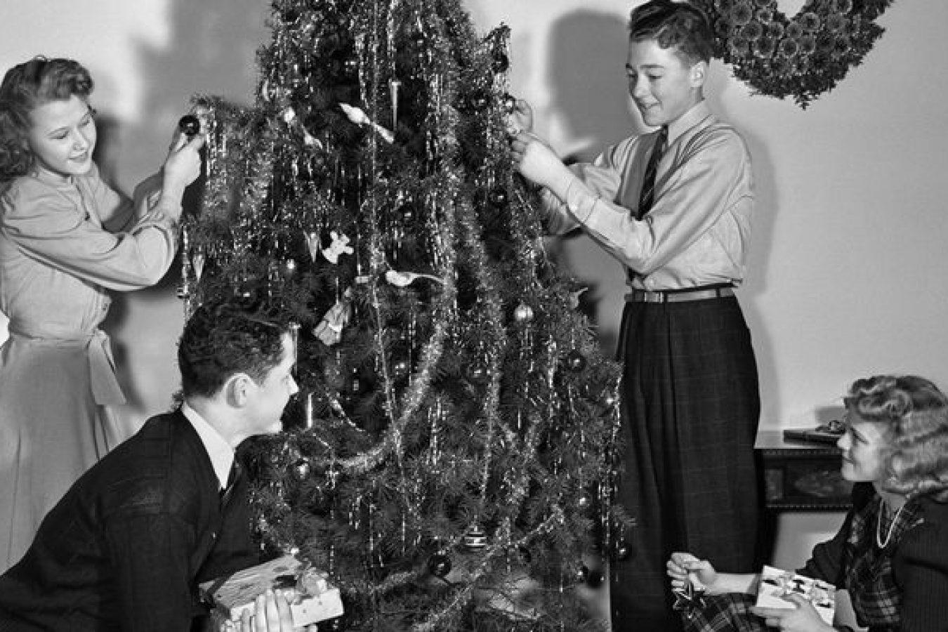 La tradición del árbol de Navidad…